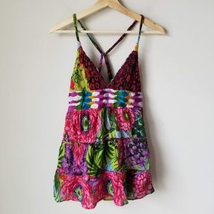 Desigual Sleeveless Tank Floral Tropical Festival